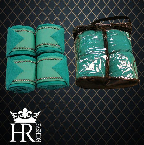 TURQUOISE  Fleece Bandages Set
