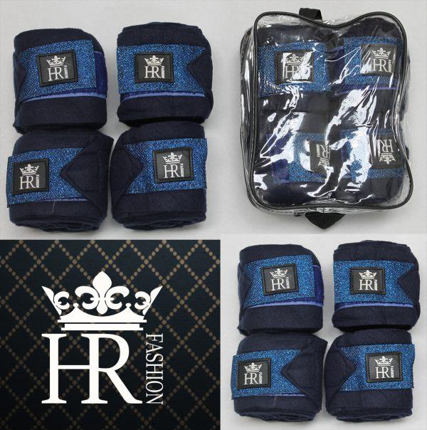 Blue Fleece Bandages Set met HR Logo