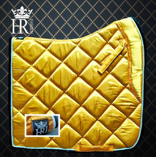 Satin Donker Geel (MANGO Kleur)  Full Size Dressuur & Pony Size BLACK FRIDAY DEAL